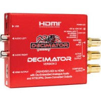 Decimator DECIMATOR 2: 3G/HD/SD-SDI to HDMI with De-Embedded Analogue Audio